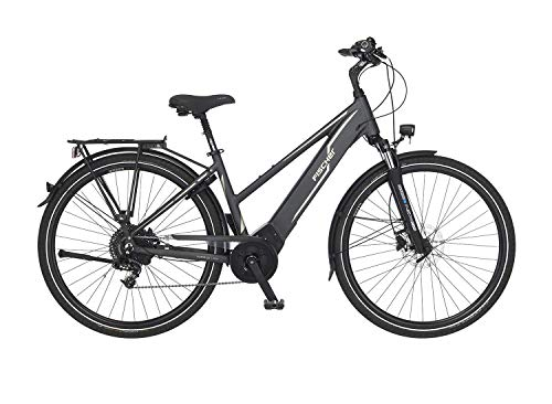 FISCHER Damen - Trekking E-Bike VIATOR 5.0i, Elektrofahrrad, grau matt, 28 Zoll, RH 44, Brose Drive C...