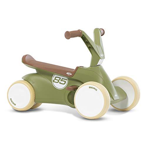Berg GO² 2in1 Rutschauto Retro Grün | Rutscher und Laufrad, Kinderrutscher, Kinderauto mit Ausklappbare...