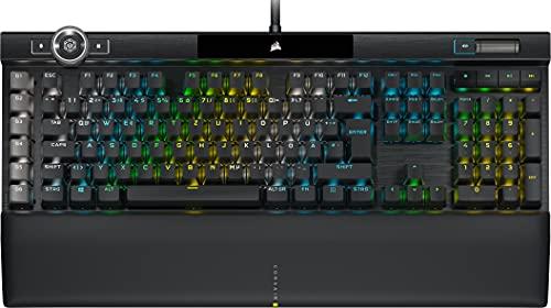 Corsair K100 RGB Mechanische Gaming-Tastatur (CHERRY MX SPEED: Schnell & Hochpräzise, RGB Beleuchtung,...