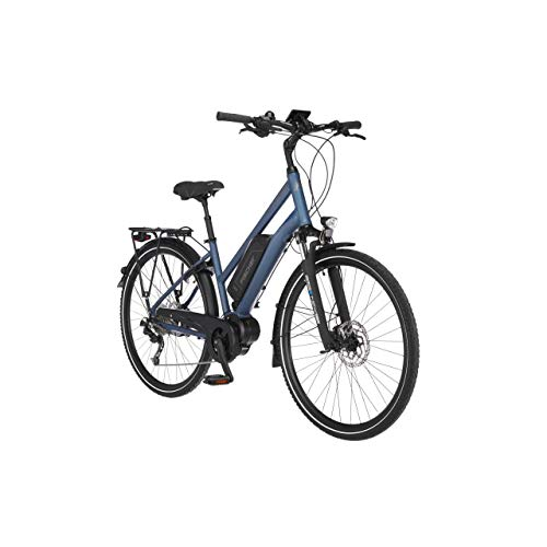 FISCHER Damen - Trekking E-Bike ETD 1820.1, Elektrofahrrad, saphirblau matt, 28 Zoll, RH 44 cm, Mittelmotor 50...