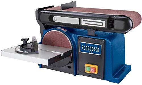 Scheppach Band-Tellerschleifer BTS 900 (Schleifmaschine mit 370W, 230V, 2850 min-1, Schleifteller Ø 150mm,...