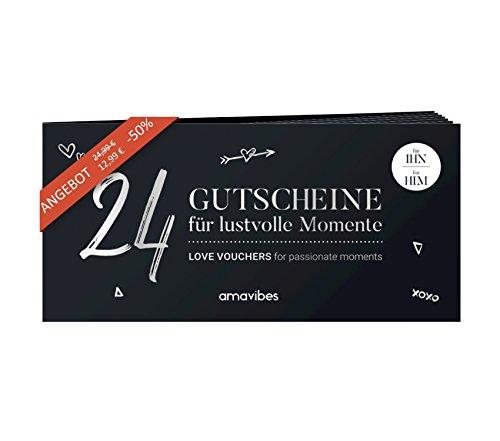 Premium Liebes-Gutscheinheft für Männer: 24 Liebes-Gutscheine, perfekt als Adventskalender, Partner-Geschenk...