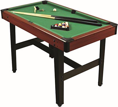 1PLUS 4ft Billardtisch mit 2 Queues, Kugelset, Dreieck - Pool spielen wie die Profis - ca. 122 x 67 x 78 cm (L...