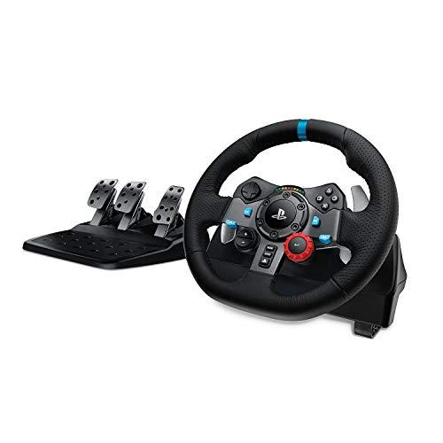 Logitech G29 Driving Force Gaming Rennlenkrad, Zweimotorig Force Feedback, 900° Lenkbereich, Leder-Lenkrad,...