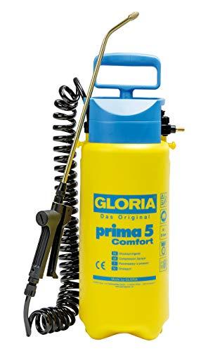 GLORIA Drucksprüher prima 5 Comfort | Gartenspritze | 5 L Füllinhalt | Komfortable Ausstattung | 2,5 m...