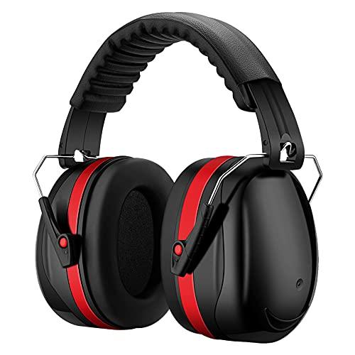 Kapsel-Gehörschutz Ohrenschützer mit 34dB SNR, lärmschutzkopfhörer erwachsene mit Tragbare Tasche, Faltbar...