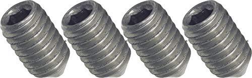 SECOTEC Madenschraube   Wurmschraube für Türdrücker M6x7 mm   4 Stück   vernickelt