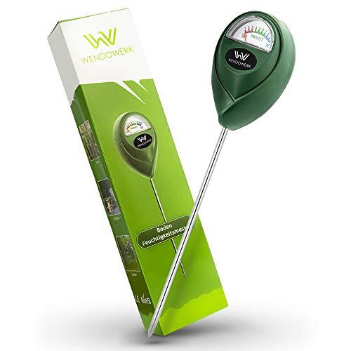WENDOWERK® Boden Feuchtigkeitsmesser für Pflanzen - [Grün/Schwarz] - Ohne Batterien - Verbessertes...