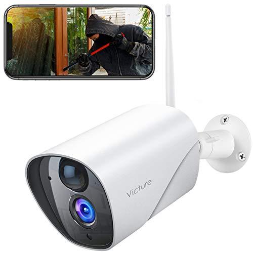 Victure Überwachungskamera Aussen, 1080P WLAN IP Kamera mit PIR Bewegungserkennung, Wasserdichter und...