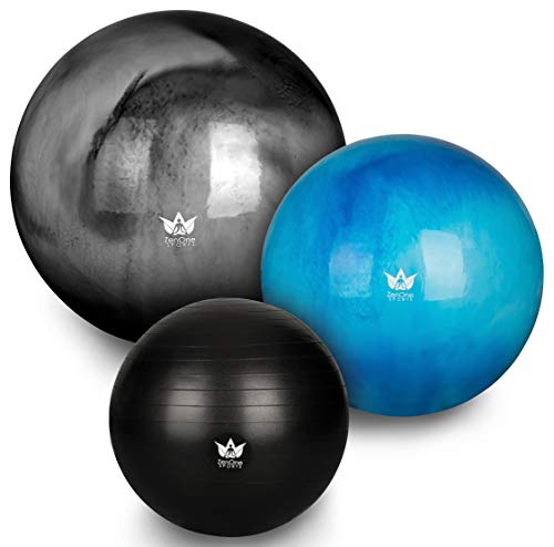 ZenOne Sports ZenBall Gymnastikball, Sitzball für Büro, Fitnessball für Reha, Sport, Yoga &...