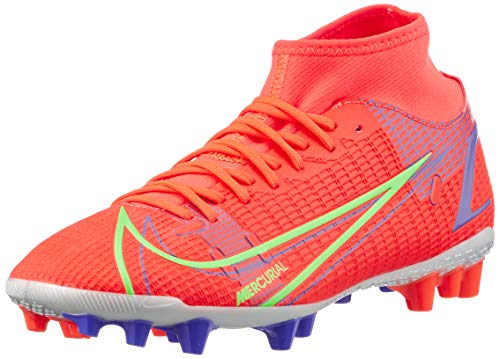 Nike Herren Mercurial Superfly 8 Academy AG Football Shoe, Bright Crimson/Metallic Silver-Indigo...