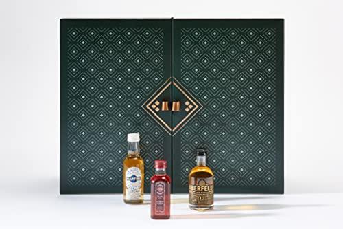 Amazon Premium Spirituosen Adventskalender 2021 - 24 Miniaturflaschen inkl. Booklet mit Verkostungsnotizen und...
