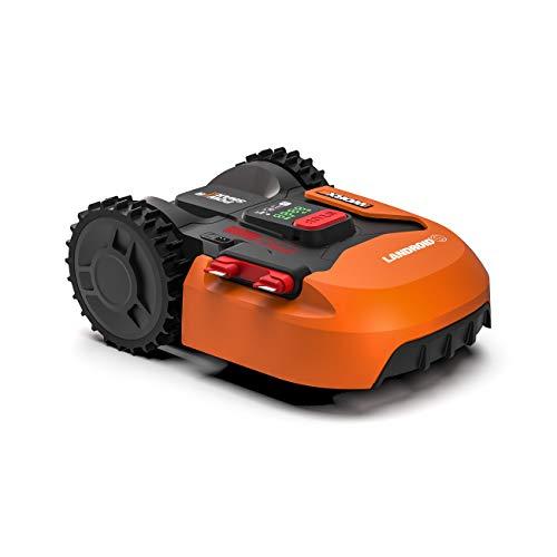Worx Landroid S WR130E Mähroboter / Akkurasenmäher für kleine Gärten bis 300 qm / Selbstfahrender...