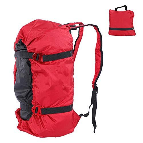 Dilwe Kletterseil Tasche, Faltender Wasserdichter Bergsteigen Schulter Rucksack für Klettern Trekking...