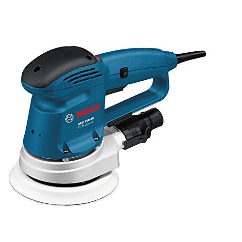 Bosch Professional Exzenterschleifer GEX 150 AC (150 mm Schleifteller, 340 Watt, inkl. Adapter, Absaugadapter,...