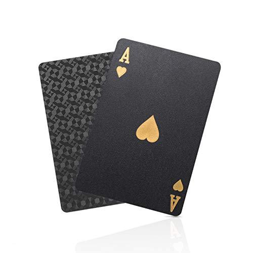SolarMatrix Schwarzer Diamant Kunststoff Pokerkarten Plastik wasserdichte Spielkarten- 1 Deck von Spielkarten...