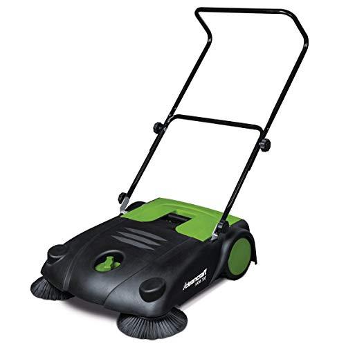 Cleancraft Handkehrmaschine HKM 700 mit zwei Seitenbesen, Arbeitsbreite 70 cm, Kehrgutbehälter 20 l,...
