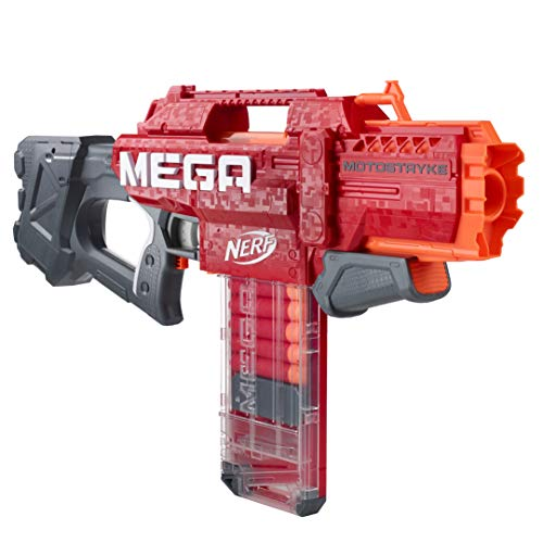 NERF Hasbro E6474EU4 Mega Motostryke motorisierter 10-Dart Blaster – enthält 10 Mega Darts und 10-Dart...