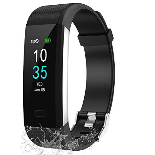 LEBEXY Fitness Armband Schrittzähler, Fitness Tracker mit Herzfrequenzmesser Blutdruckmessung Pulsuhr...