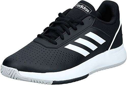 Adidas Herren Courtsmash Tennisschuhe, Mehrfarbig (Negbás/Ftwbla/Gridos 000), 42 2/3 EU