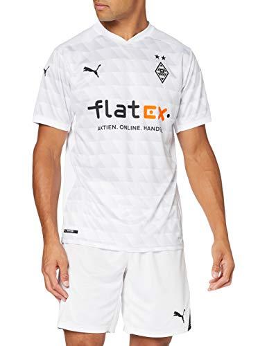 PUMA Herren, BMG Home Shirt Repl. w.Sponsor T-shirt, White-Gray Violet, L