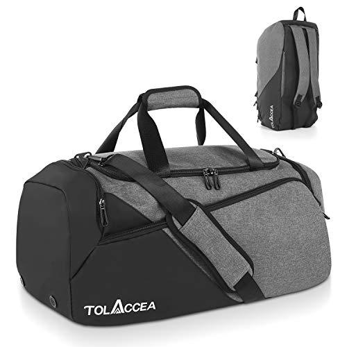Tolaccea 47L Sporttasche Groß Sporttasche Rucksack mit Schuhfach Nassfach Wochen Reisetasche Duffel Bag...