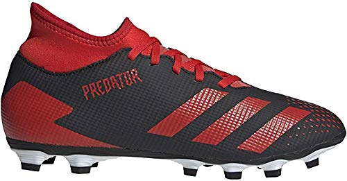 adidas Herren Predator 20.4 Schuhe, Cblack Actred Ftwwht, 42 EU