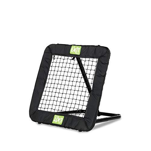 EXIT - Fußball Rebounder Kickback - 124x124cm, schwarz, Fußball Trainingszubehör, Verstellbar in 10+...