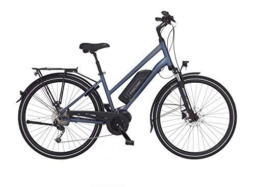FISCHER Herren - Trekking E-Bike ETH 1820, Elektrofahrrad, saphirblau matt, 28 Zoll, RH 50 cm, Mittelmotor 50...