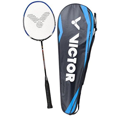 VICTOR Badmintonschläger V-3700 Magan für Einsteiger, Freizeit- und Hobbyspieler, blau