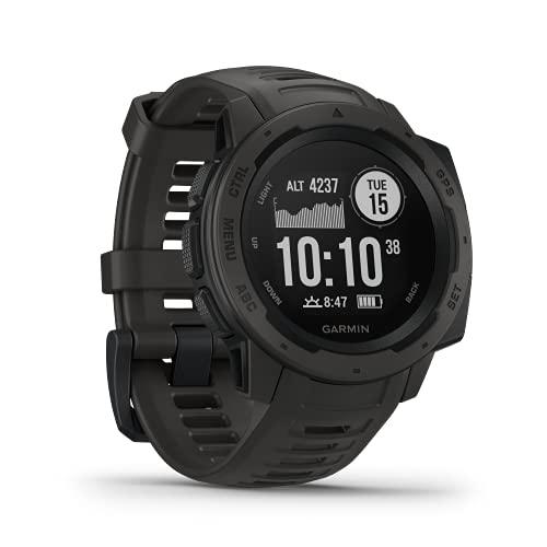 Garmin Instinct - wasserdichte GPS-Smartwatch mit Sport-/Fitnessfunktionen und bis zu 14 Tagen Akkulaufzeit....