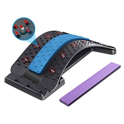Dyroe Rückenstrecker Rückenmassage Unterstützung Einstellbar Rückendehner mit Magnetischen Perlen, 4...