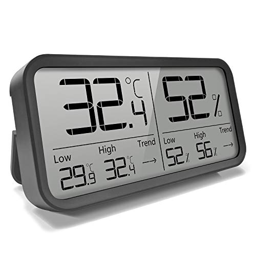 AngLink Digitales Thermo-Hygrometer Innen, Tragbares Thermometer Hygrometer Luftfeuchtigkeitsmessgerät mit...