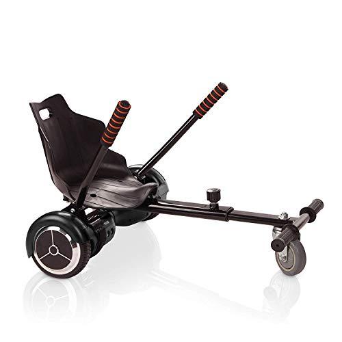 ACBK HoverKart Go-Kart-Stuhl für E-Skates, verwandelt Ihr Hoverboard in EIN Kart, Schwarz