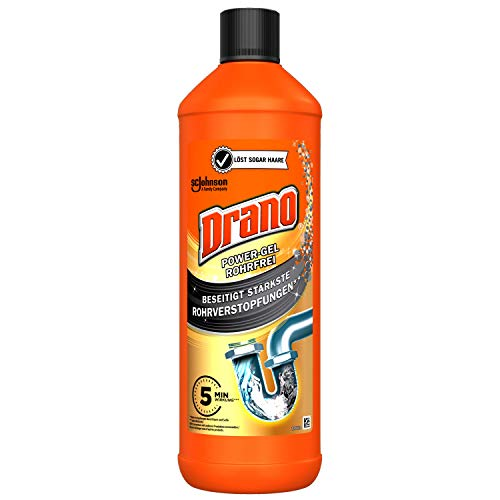 Drano (Mr Muscle) Power Gel Rohrfrei Abflussreiniger, Rohrreiniger, für Küche & Bad, entfernt Verstopfungen,...