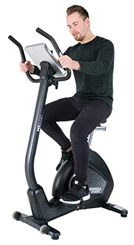 Miweba Sports Ergometer ME500 Trimmrad Cardio Heimtrainer - Streaming App - 14 Kg Schwungmasse - Magnetbremse...