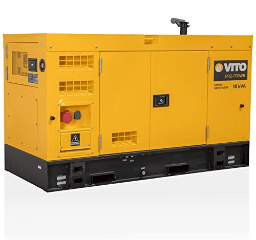 VITO Professional Silent 15kVA / 12 KW SUPER LEISE Diesel Stromerzeuger 400V AC 50Hz / 230V AC 50Hz...