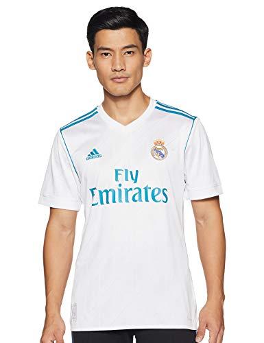 adidas Herren Real Madrid Heim Replica Trikot, White/Vivid Teal, XL