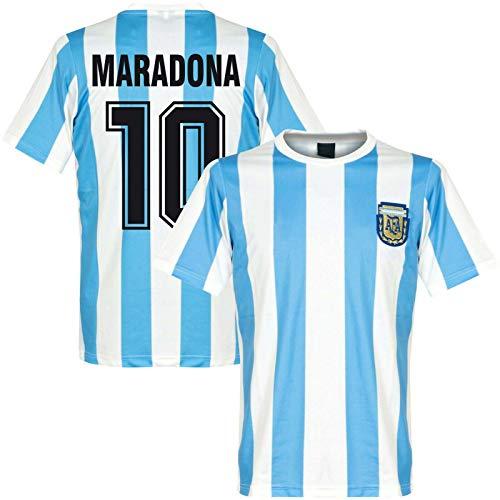 Juyuntong Hommage an Diego Maradona # 10 Vintage Argentinien Heimfußball Trikot Gedenk-t-Shirt...