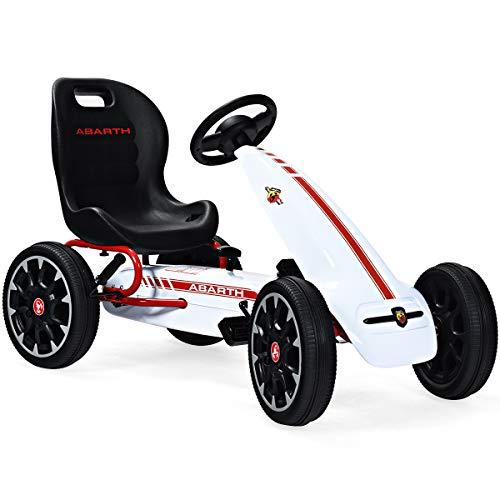 COSTWAY Gokart mit verstellbarem Sitz, Go Cart mit Handbremse und Gangschaltung, Tretauto, Pedal Gokart,...