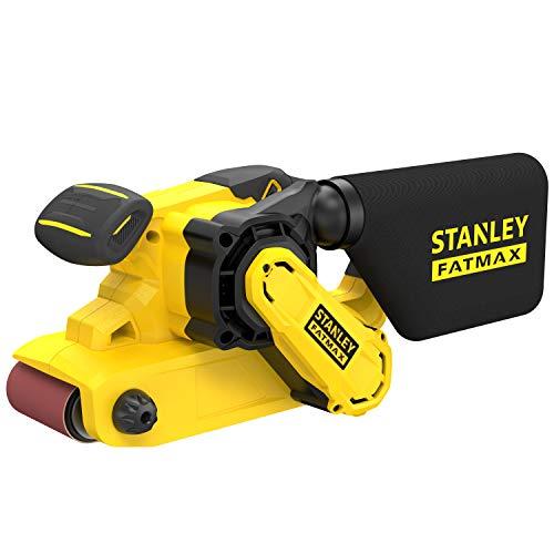 Stanley FatMax Bandschleifer FMEW204K (1.010 Watt, 75 x 533 mm Schleifband, Drehzahlvorwahl, werkzeugloser...