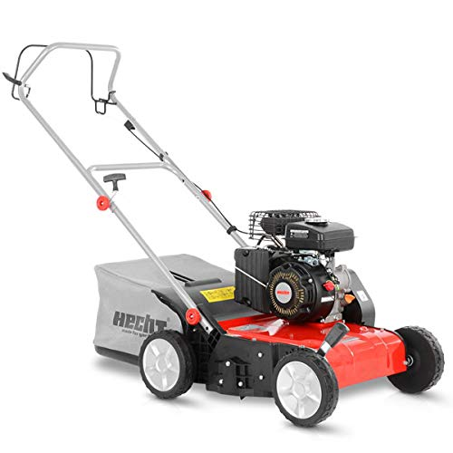 HECHT Vertikutierer Benzin (1,8 kW / 2,45 PS) – 38cm Arbeitsbreite – 40L Fangkorb – für die Rasenpflege...