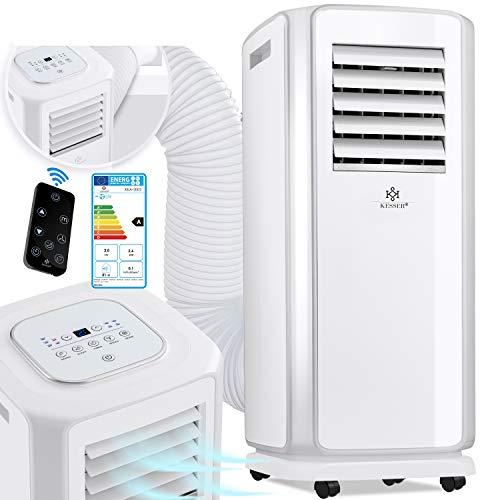 KESSER® - Klimaanlage Mobiles Klimagerät 4in1 kühlen, Luftentfeuchter, lüften, Ventilator - 7000 BTU/h...