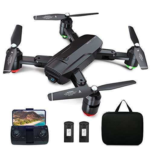 Dragon Touch GPS Drohne mit Kamera 1080P HD, haltbar RC Quadrocopter mit WiFi FPV Live Übertragung/Tap...