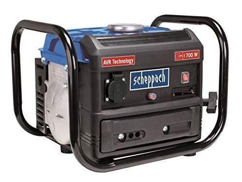 Scheppach Benzin Stromgenerator SG1000 (Stromerzeuger max.700 W, 4 Liter Tank, leicht und kompakt, leichter...