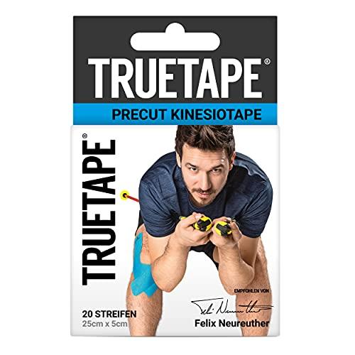 TRUETAPE® Kinesiotapes I vorgeschnitten | wasserfestes & elastisches Kinesiologie Tape | 20 Precut-Streifen...