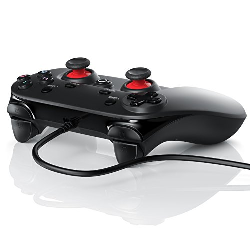 CSL - Gamepad für PC - X Controller mit Direct-Input X-Input - Dual Vibration - Turbo-Funktion - Plug and...