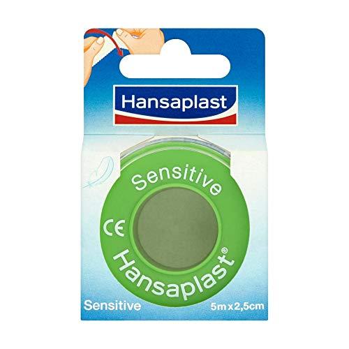 Hansaplast Fixierpflaster Sensitive (5 m x 2,5 cm), hypoallergenes Tapeband zur hautfreundlichen Fixierung von...