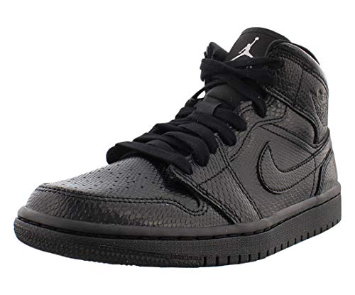 Nike Damen WMNS Air Jordan 1 Mid Basketballschuh, Black Black White, 37.5 EU
