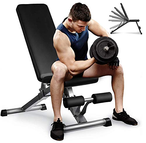 Aebow Hantelbank Verstellbare Negativ für Bankdrücken, faltbare Gewichte Bank Fitness Set, Flat Incline...